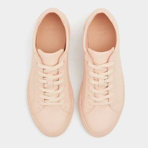 Pull&Bear Blush Pink Lace up Sneakers Sz 7